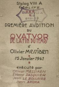 """Concert """"Quatuor pour la fin du temps"""" dans le cadre des Journées Européennes du Patrimoine Cité des arts"""