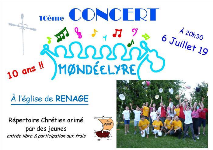 """Concert du groupe """"MONDEELYRE"""" Renage église"""