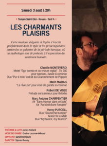 Concert Les charmants plaisirs Temple Saint-Eloi