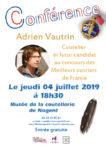 Conférence Adrien Vautrin Musée de la coutellerie