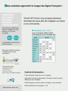"""cours du soir """"apprendre la Langue des Signes Française"""" Visuel LSF Centre"""