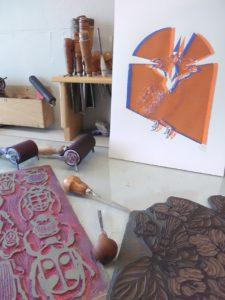 Découverte de l'art de la linogravure Le Goutel