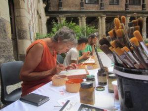 Démonstrations et ateliers de réalisation de fresques Maison de l'Outil et de la Pensée Ouvrière