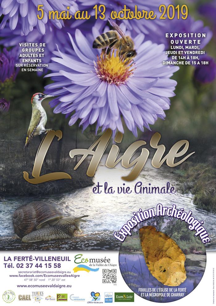 """Visite guidée de l'exposition """"L'Aigre et la vie animale"""" Écomusée de la Vallée de l'Aigre"""
