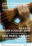 SHS et Interdisciplinarité dans Horizon 2020 - Journée d'information et d'échanges ENS Paris-Saclay - Amphithéatre Marie Curie