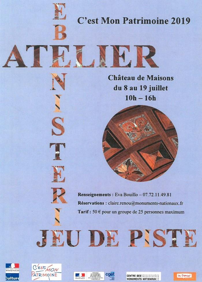 Jeu de piste et atelier ébénisterie au château de Maisons Château de maisons