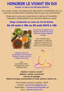 La cuisine vivante & le silence nourriture de l'âme Gîte des Aubes