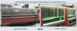 Le canal à houle et le canal inclinable du LEGI LEGI - Campus de St Martin d'Hères