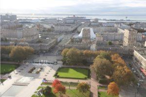 Lecture urbaine du Havre depuis le 17e étage de l'hôtel de ville Hôtel de ville