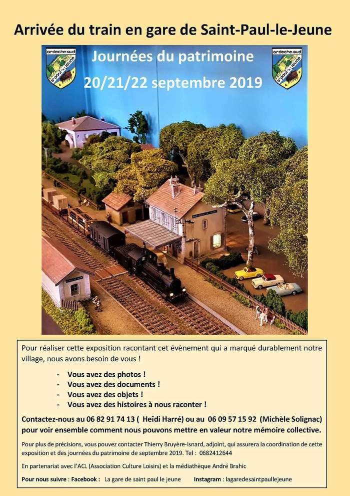 Mise en valeur du patrimoine ferroviaire de la commune de Saint Paul Le Jeune Salle des fêtes