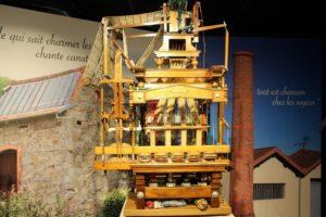 Démonstrations de tissage sur métiers à  tisser miniatures Musée du tissage et de la soierie - Espace Pierre Berchoux