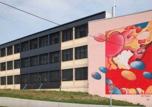 Peinture murale de 13 m x 10 m de Guillaume Bottazzi Peinture monumentale de Guillaume Bottazzi