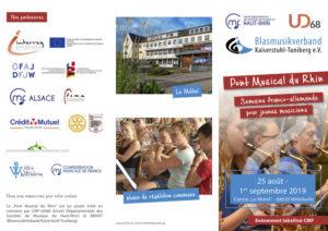 Pont Musical du Rhin / Semaine franco-allemande pour jeunes musiciens Centre le Mittel