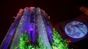 Projection surprise  sur la cathédrale Sainte-Cécile Place St Cécile Albi