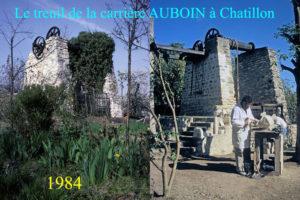 Projections sur l'industrie de la pierre à bâtir et les étapes de restauration du treuil de la carrière Auboin à Châtillon Treuil de la carrière Auboin