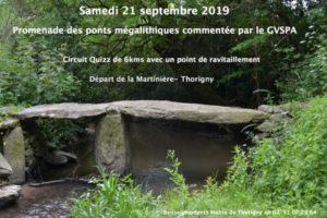 Randonnée des ponts mégalithiques Thorigny