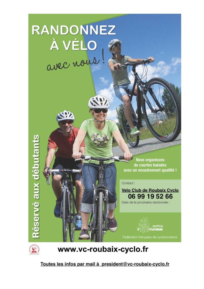 Randonnée initiation au vélo Vélodrome de Roubaix - André Pétrieux