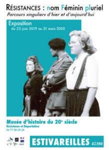 Résistances : nom Féminin pluriel - Parcours singuliers d'hier et d'aujourd'hui Musée d'histoire du 20e siècle - Résistance et Déportation