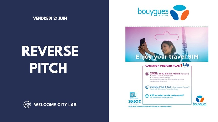 Reverse Pitch Bouygues Telecom Welcome City Lab 21 Juin 2019