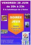 Soirée Jeux de société à la Ludothèque - Vendredi 28 juin Ludothèque
