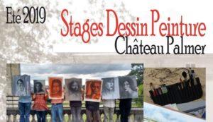 Stage de dessin et peinture Centre culturel Château Palmer