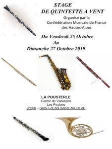 Stage de quintette à vent Saint-Jean-Saint-Nicolas