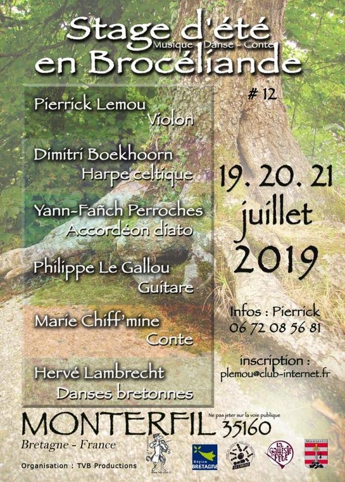 Stage d'été en Brocéliande Monterfil (35)