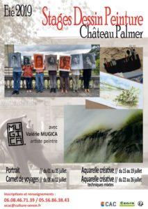 Stages de dessin-peinture Centre Culturel Château Palmer