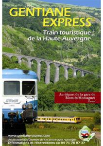 Train touristique Gentiane Express Riom-ès-Montagnes