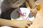 Vacances en famille -Peinture Musée de la faïence et des arts de la table