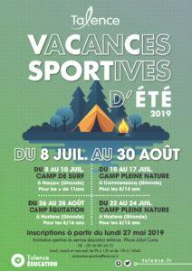 Vacances sportives d'été Ville de Talence