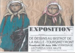 Vernissage exposition de DESSINS Bistrot de la Halle