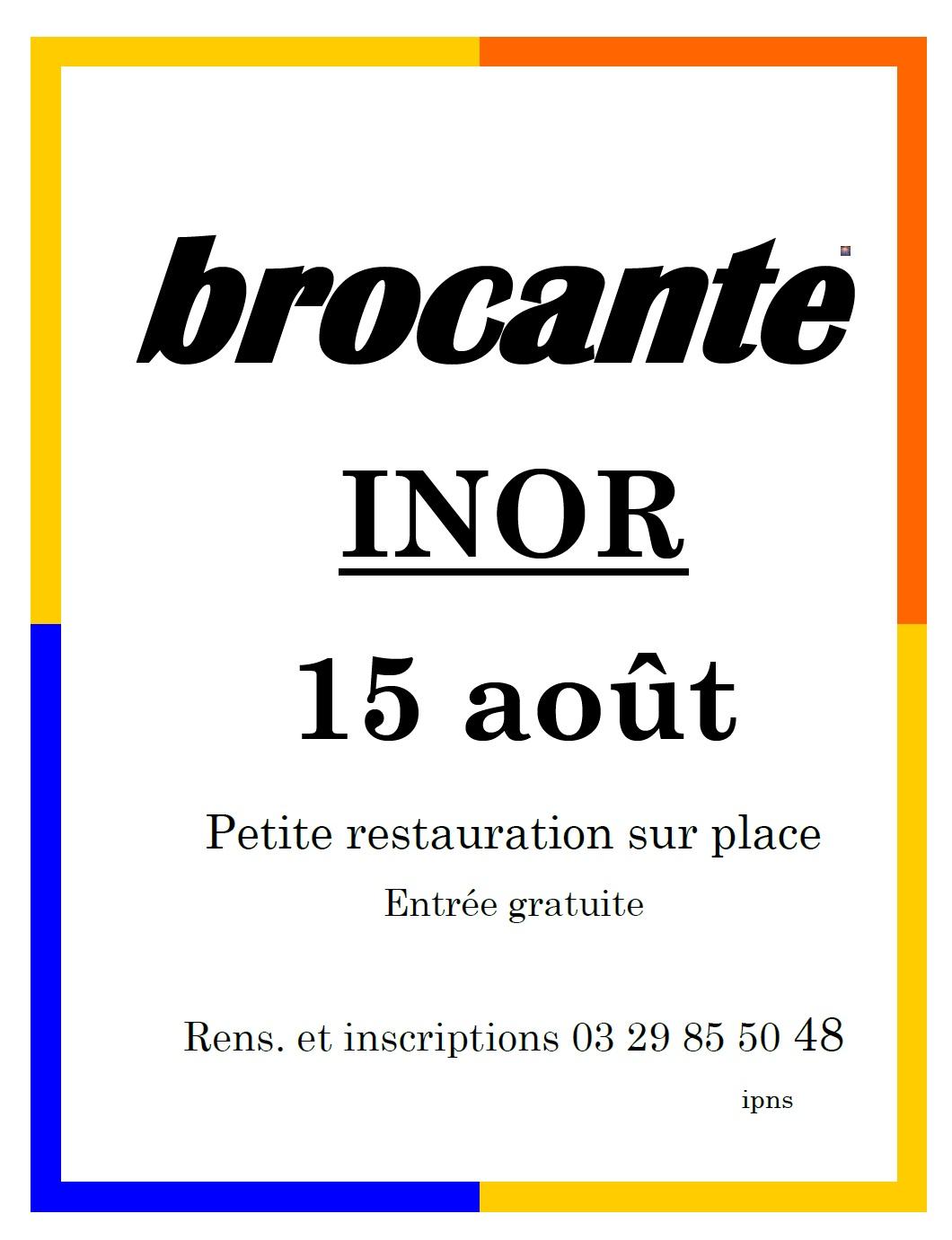 BROCANTE / VIDE GRENIER Inor   2021-08-15