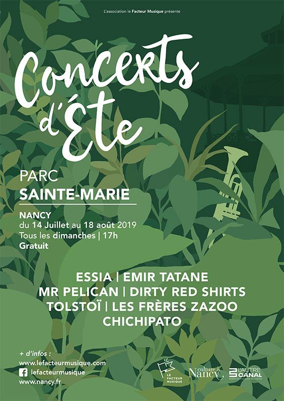 CONCERTS D'ETE AU PARC SAINTE MARIE Nancy   2020-07-12