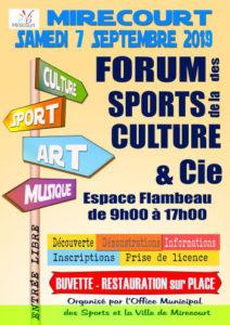 FORUM DES SPORTS CULTURE ET COMPAGNIE Mirecourt   2021-09-04