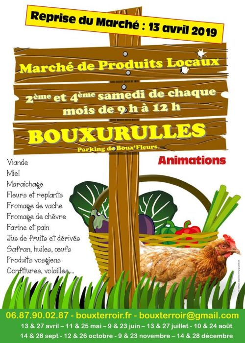 MARCHÉ DE PRODUITS LOCAUX Bouxurulles