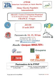 MARCHE POPULAIRE INTERNATIONALE Fraize   2020-08-15