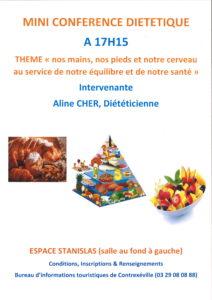 MINI CONFÉRENCE DIÉTÉTIQUE À THÈME  2019-08-22