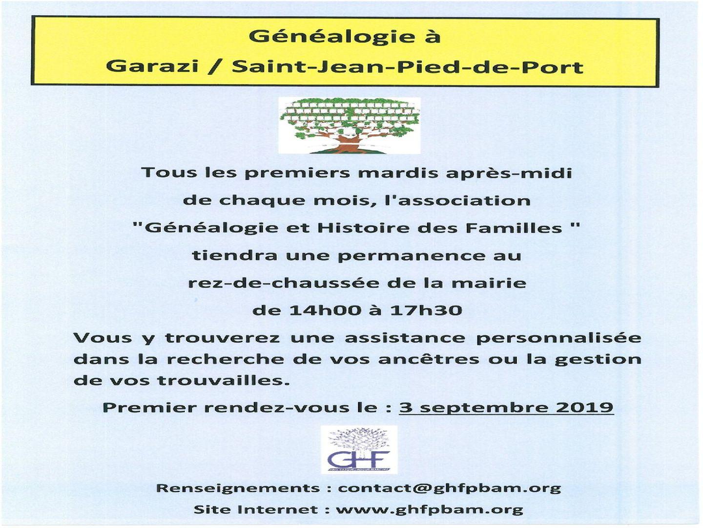Généalogie à St Jean Pied de Port-sous réserve