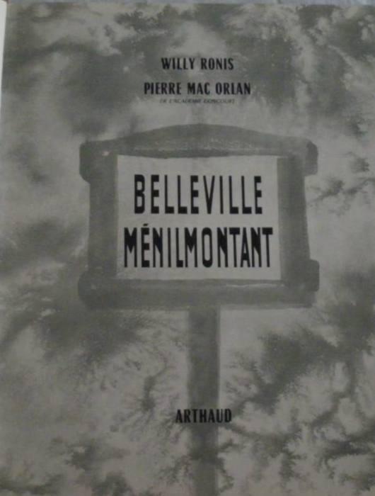 BELLEVILLE MENILMONTANT RONIS