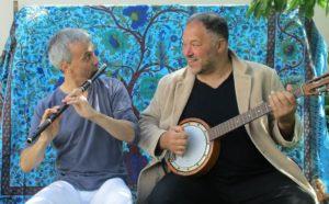Phil'Hocine (world music poetique) au Petit Café dans la Prairie Theix-Noyalo   2020-02-14