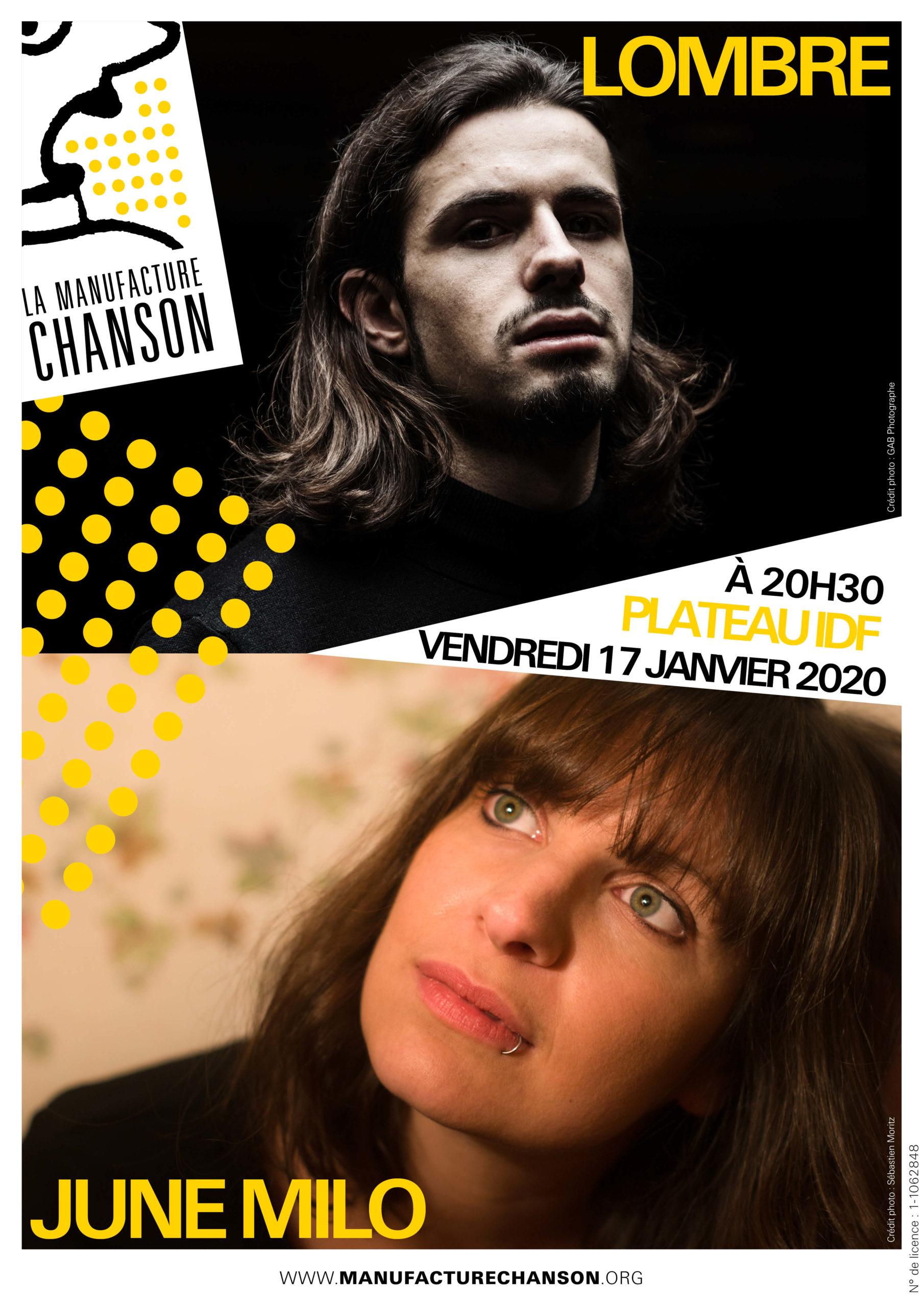 LOMBRE + JUNE MILO LA MANUFACTURE CHANSON