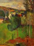 Vue sur Pont-Aven prise de Lezaven, Paul Gauguin, 1888.