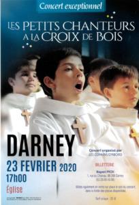 CONCERT DES PETITS CHANTEURS À LA CROIX DE BOIS Darney   2020-02-23