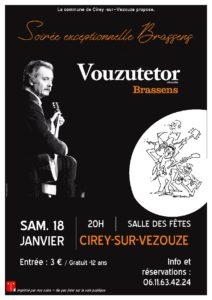 CONCERT 'VOUZUTETOR CHANT BRASSENS' Cirey-sur-Vezouze   2020-01-18