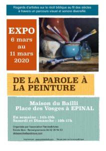 DE LA PAROLE À LA PEINTURE Épinal   2020-03-06