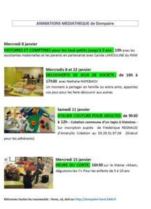 DÉCOUVERTE DE JEUX DE SOCIÉTÉ  - MÉDIATHÈQUE Dompaire   2020-01-22
