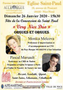 "Concert à 2 organistes""Very Nice Duo"" eglise Saint Paul Nice"