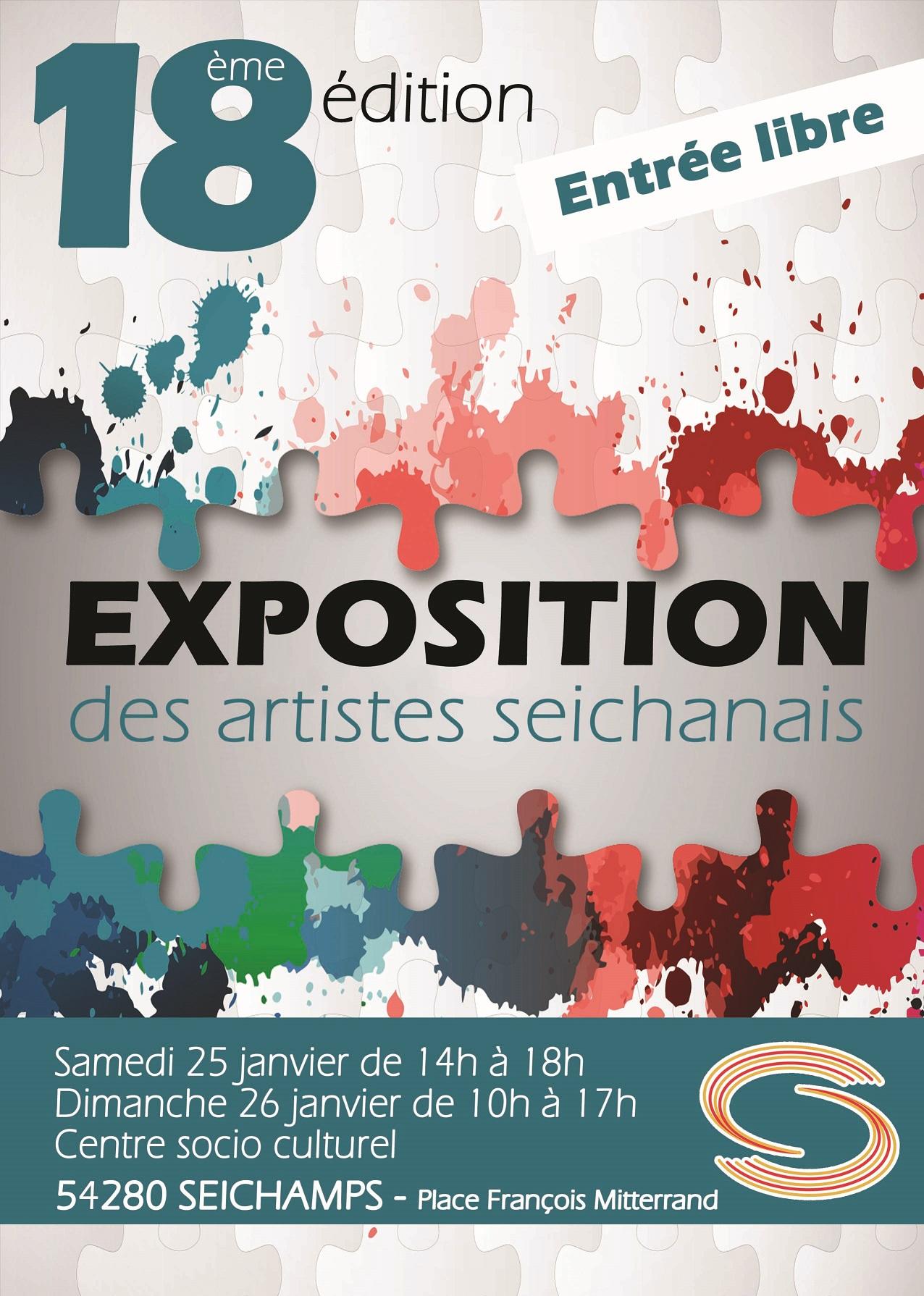 EXPOSITION 18EME EDITION DES ARTISTES SEICHANAIS Seichamps