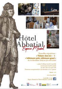 EXPOSITION - VOLTAIRE CHEZ LUI À L'HÔTEL ABBATIAL Lunéville   2020-01-02